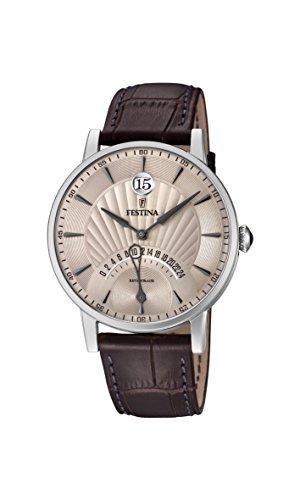 Festina Herren Analog Quarz Uhr mit Leder Armband F16984/2