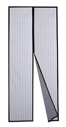 Dooreasy Hands-Free Magnetic Screen Door Polyester Mesh, Full Frame Loop Sewn,Quick Close No Slightest Gap, Fits Door Opening Up to 34'x95'