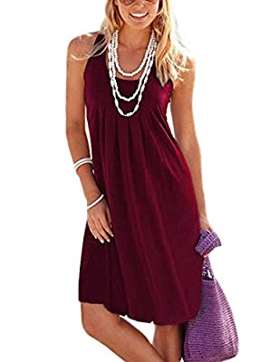 Material:95% Rayon ,5% Spandex.Super soft and comfortable.which makes it light and ideal for summer weather but heavy enough to where you don't worry about it flying up or getting stuck somewhere.this womens casual dress features lightweight and comf...