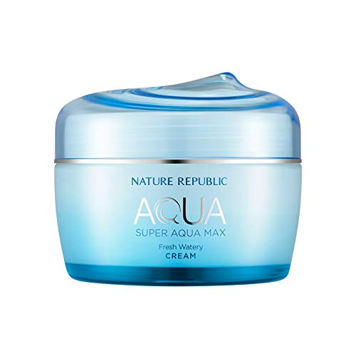 Nature Republic Super Aqua Max Fresh Watery Cream for Oily Skin, 245 Gram