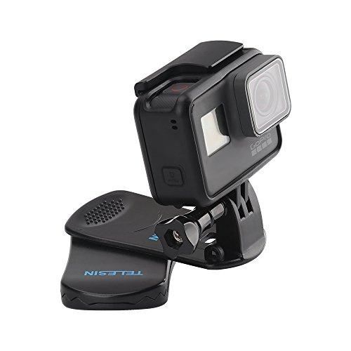 TELESIN 360°回転式 クリップマウント Gopro Hero6/5/4/3/2,Xiaomi Yi,SJCAMなどのスポーツカメラに対応