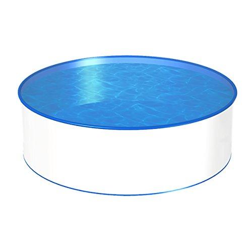 POWERHAUS24 MTH Schwimmbecken, rund, 3,50m, Tiefenauswahl, 0,6mm Stahlwand, Folie mit Keilbiese-1,20m