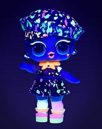 Image 7 - L.O.L. Surprise- Light Glitter Boule 8 Dont 1 poupée pailletée 8cm, phosphorescente, Lampe lumière Noir, Modèles aléatoires à Collectionner, Piles incluses, Jouet pour Enfants dès 3 Ans, LLUB4