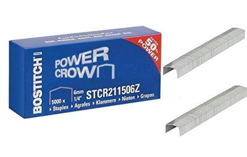 BOSTITCH STCR211506Z - Punti metallici (dimensione della graffetta: L = 6 mm, 1/4') (versione adatta: pinzatrici tipo Bostitch B8 & cucitrice 02245) (confezione da 5000 graffette)