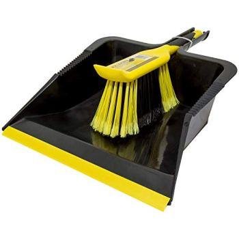 Bentley Retail Charles Bentley Bulldozer Dustpan, Brush, Black, Yellow, one size
