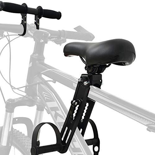 Bomoya Seggiolino per Bici da Mountain Bike, Rimovibile, per Bambini di 2 5 Anni, Compatibile con Tutti Gli Adulti MTB (Sedile e Maniglia)
