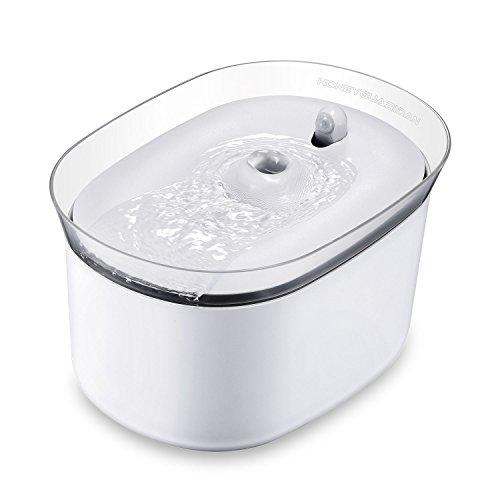 HoneyGuaridan W25 dispensador Silencia Fuente de Agua Automática Inteligente con Sensor de Infrarrojos,bebederos Mascotas,Fuentes para Perros y Gatos - Pack de 2 Filtros de Carbón