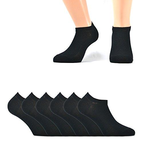 6 paia di mini calze pariscarpa in filo di scozia elasticizzato, nero 38/40
