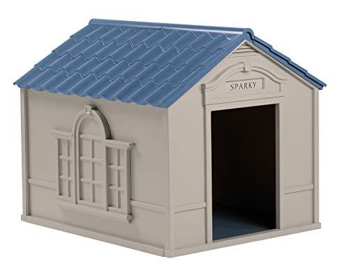 Suncast Outdoor Dog House with Door - Water...