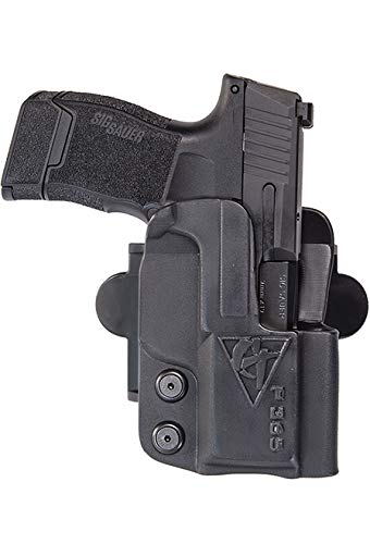 COMP-TAC.COM International Holster Compatible with Glock - 41 - Right - Black (Belt, Paddle, Drop Offset)