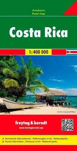 Costa Rica, mapa de carreteras. Escala 1:400.000. Freytag & Berndt.: Wegenkaart 1:400 000 (Auto kart