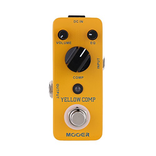 Festnight Mooer Yellow Comp Micro Mini Optical Compressor Effect Pedal for Electric Guitar True Bypass