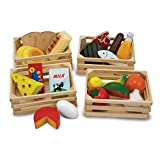Healthy pretend play: Melissa & doug food groups wooden play food is a sturdy wooden food set that features items from the 5 food groups for healthy pretend play; it includes watermelon, milk, cheese, fish, eggs, and more Fun and educational: This pl...