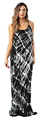 FEEL BEAUTIFULLY CONFIDENT: With a beautiful flowing fit and unique tie and dye design, this long maxi dress is a stylish way to crown any sunny day. We've designed it using soft woven rayon challis fabric that feels great on the skin for all-day com...