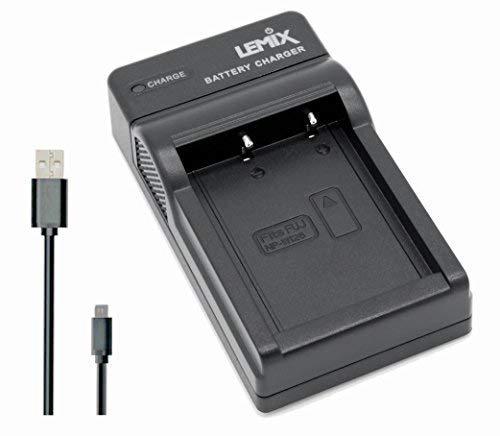 Lemix (W126) Caricatore Ultra Sottile slim per batterie Fujifilm NP-W126 & NP-W126S e per les fotocamere FUJIFILM (elencate qui sotto) delle serie Finepix e Fuji X