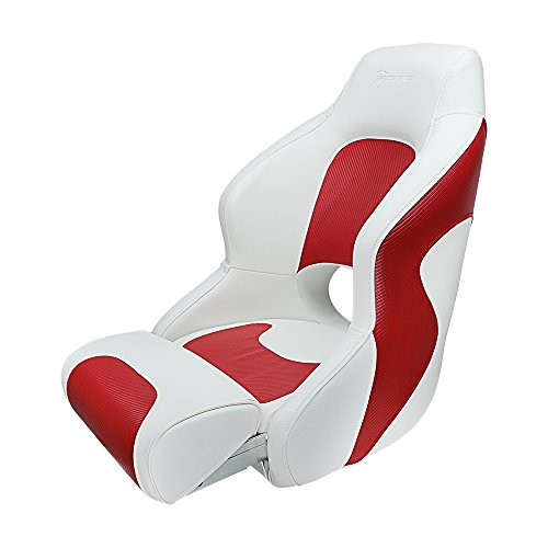 Seamander Captain Bucket Seat,Sport Flip Up Seat (White/Red)