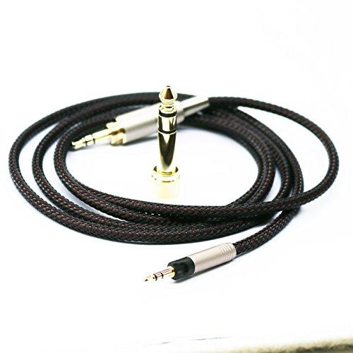 Cavo audio di ricambio per cuffie, compatibile con cuffie Sennheiser HD6 MIX, HD7, HD8 DJ, 1,2 m