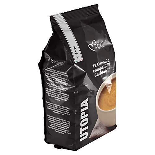 96 capsule ItalianCoffee Caffè Utopia FORTE compatibili Sistemi Caffitaly System-Professional-Coffee (12cps. * 8 sacchetti)