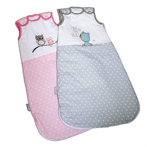Nalaïa - Premium Babyschlafsack aus OEKO-TEX® 100 zertifizierter Bio Baumwolle für sicheren und gesunden Babyschlaf von deutschem Unternehmen   ganzjährig 2,5TOG   Gr. 56/74   0-8 Monate