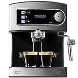 Cecotec Power Espresso 20 - Cafetera Express Manual, 850W, Presión 20 Bares, Depósito de 1,5L,...