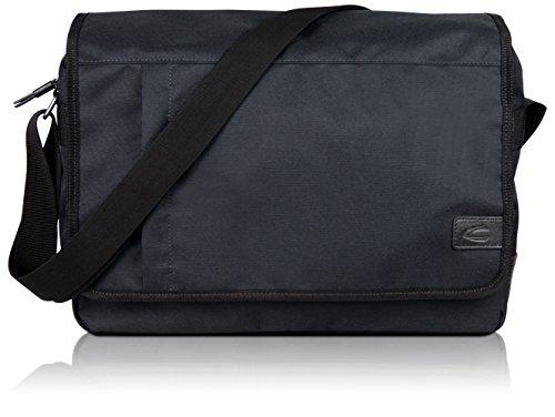 """Camel Active Messenger Bag Umhängetasche für Damen und Herren mit 15"""" Laptopfach, Kuriertasche Schultertasche Herrentasche Laptoptasche, Schwarz"""