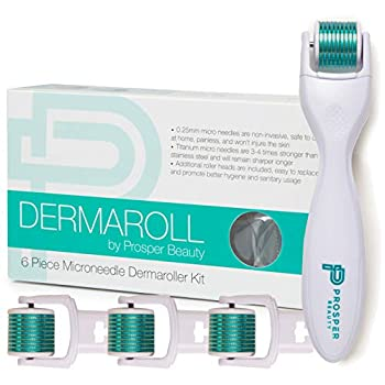 ★ THE BEST DERMA ROLLER ON THE MARKET - Designed by healthcare professionals with safety and hygiene as a priority, DERMAROLL contains 600 titanium micro needles with 4 replaceable roller heads (1 attached + 3 additional). Titanium needles are 3-4 ti...