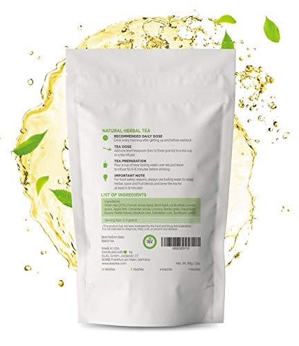 Teaz 28 Days Detox - Clean Tea | 85g Loose Leaf | Slim Tea for Weight Loss | Detox Tea | Diet & Fat Loss Tea | Cleanse Tea | Natural Dietary Supplement | For More Successful Diet (Detox Tea) 6