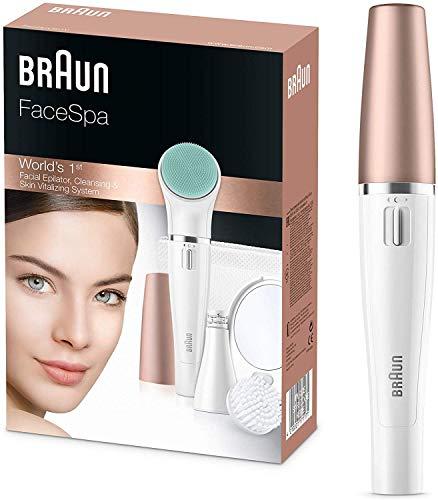 Braun FaceSpa 851V 3 in 1 Epilatore Elettrico Donna per il Viso, con Spazzola di Pulizia per...