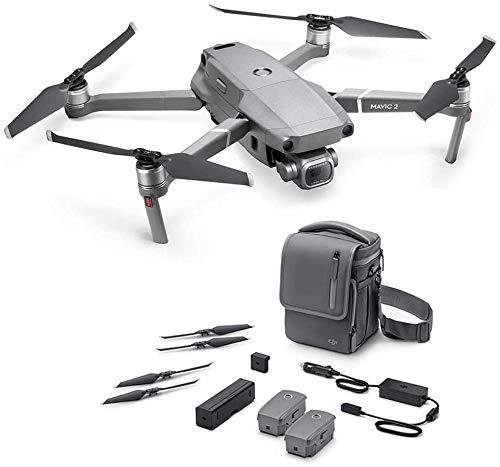 DJI Mavic 2 Pro Drone con Fly More Kit di Accessori Incluso, 2 Batterie di Volo Intelligenti, Caricabatteria da Auto, Stazione di Carica, Adattatore a Power Bank, Eliche, Borsa