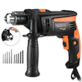 Hammer Drill, TACKLIFE Corded Drill 1/2 Inch, 2800RPM, 44800BPM Dual Drill Mode, Variable Speed...
