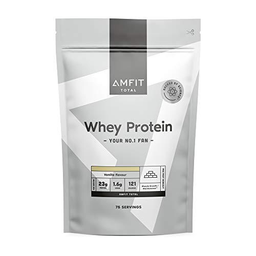 Amazon-Marke: Amfit Nutrition Molkeproteinpulver 2.27kg - Vanille (ehemals PBN)