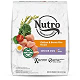 NUTRO NATURAL CHOICE Senior Dry Dog Food, Chicken & Brown Rice Recipe Dog Kibble, 30 lb. Bag