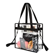 STADIUM APPROVED- Bagail Clear bags meets Stadium Tournament guidelines. Approved to be used where regulations require clear bags such as football games, casinos, events, parks, and college stadiums. FASHIONABLE & FUNCTIONAL - Our design with a top z...