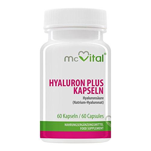 McVital Hyaluronsäure Plus 90 mg • 60 Kapseln • Mit Vitamin C & E, Biotin und Zink • Made in Germany