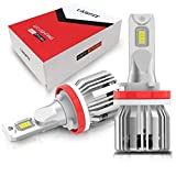 LASFIT H11 H8 H9 LED Bulbs, 6000K Cool White - Easy to Install Plug and Play Halogen Upgrade-2Pcs