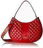 Love Moschino - Borsa Quilted Nappa Pu, Bolsos maletín Mujer, Rojo (Rosso), 8x27x37 cm (B x H T)