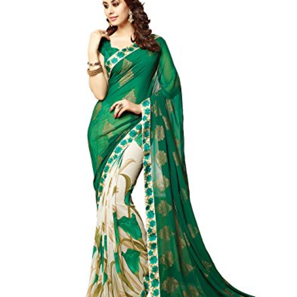 RAJESHWAR FASHION WITH RF Women's Pure Georgette Saree With Blouse Piece