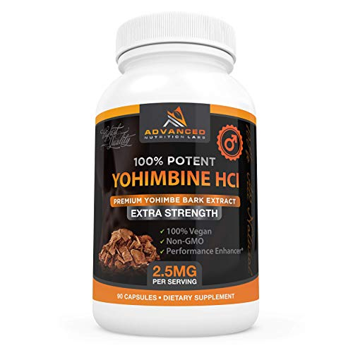 Advanced Nutrition Labs Yohimbine HCl, 90 Capsules, Yohimbe Bark Extract