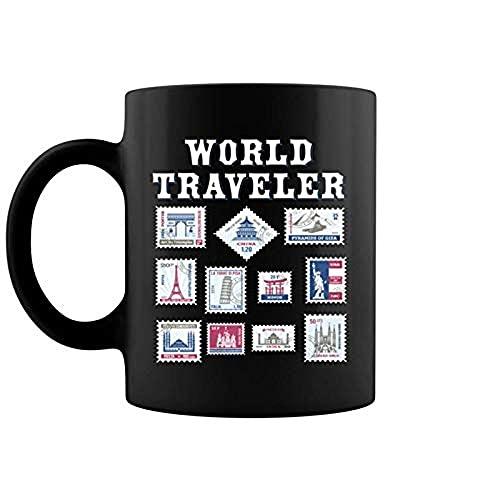 Congka Mugs World Travel Stamp Pour Voyageurs Hommes Femmes Passport3288...