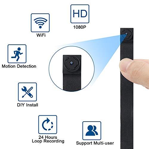 Telecamera Nascosta Spia WiFi TANGMI Mini Spy Cam 1080P HD Microcamere Spia Rilevamento del Movimento Videoregistratore di Sorveglianza