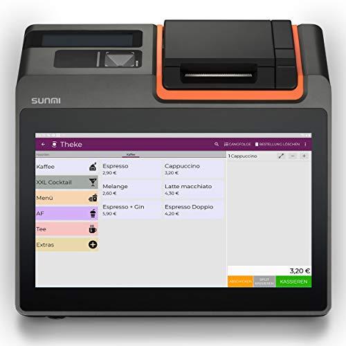 "Registrierkasse Kassensystem | Finanzamtkonform 2020 | TSE* | Kassensoftware ""LYNNE"" | integrierter Bondrucker | Gastronomie, Handel | GRATIS Ersteinrichtung des POS Terminal (T2 mini) 4G"