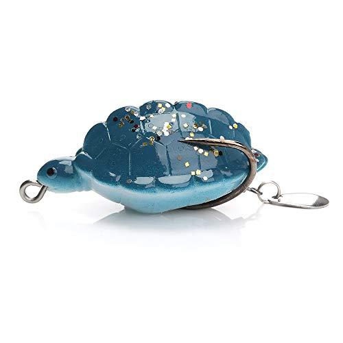 VFDGB Esche Artificiali da Pesca 12G 5,5 Centimetri Esche Artificiali Morbide da Pesca Tartarughe Cucchiai da Acqua in Silicone