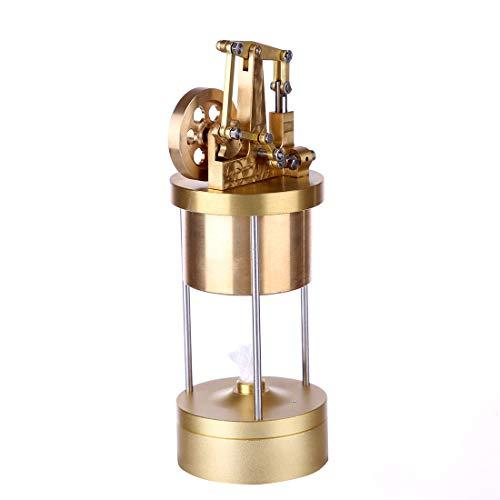 POXL Mini Dampfmaschinen Motormodell, DIY Alles Kupfer Dampfmaschinen Bausatz Kreative Vertikale Dampfmaschinen Modellbau Lernspielzeug