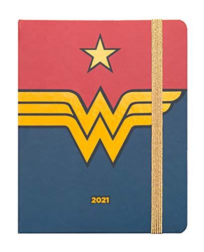 ERIK - Agenda 2021 semana vista Wonder Woman, Edición premium, 17 meses (16,5x20 cm)