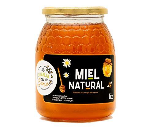 Miel de Abeja Pura, Miel de Mil Flores Natural de 1 Kg - 100