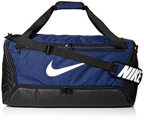 Nike Uni NK BRSLA M DUFF - 9.0 (60L) Gym Bag, Midnight Navy/Black/White, 61 cm