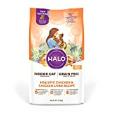 Halo Grain Free Natural Dry Cat Food Indoor Chicken and Chicken Liver Recipe