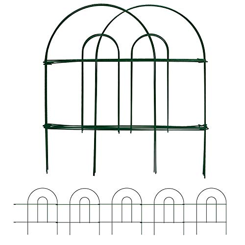 Amagabeli Decorative Garden Fence 18 in x 50 ft Rustproof Green Iron...