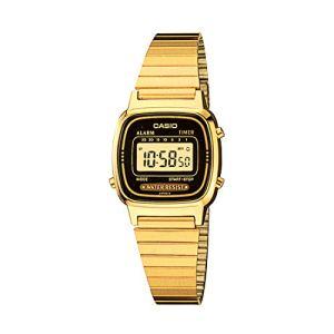 Casio Women's Vintage LA670WGA-1DF Daily Alarm Digital Gold-tone Watch 39