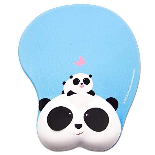 EXCO Excovip poggiapolso in Gel RIST Supporto Mouse Pad Cute Panda Pad